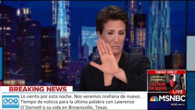 Photo of Rachel Maddow se rompe en directo al leer que el gobierno estadounidense estaba separando a niños inmigrantes de sus padres.